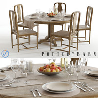 pottery barn linden table max