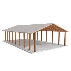 wooden shelter 01 3ds
