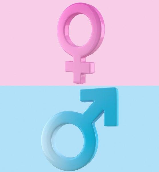gender symbols set 3d max