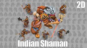 2D Indian Shaman