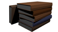 stack books 3d model