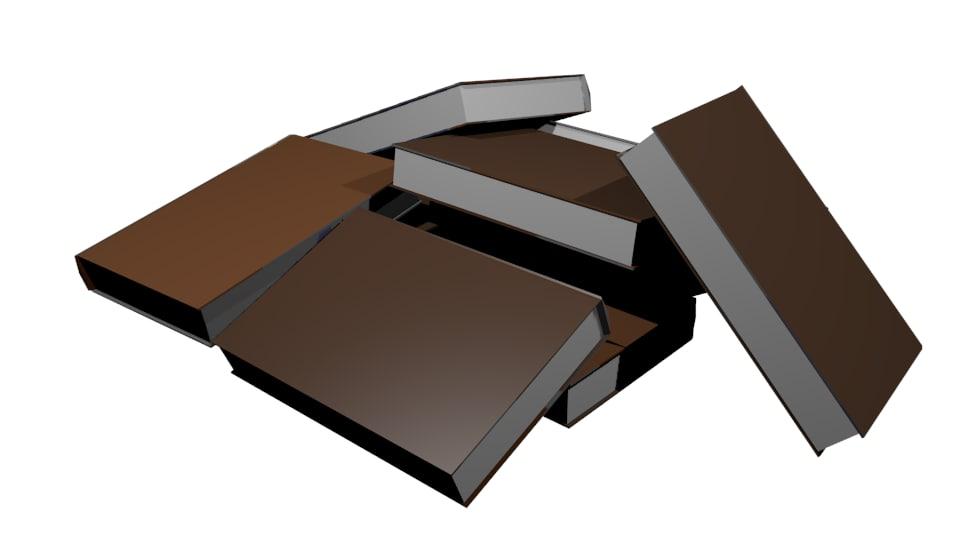 3d model pile books