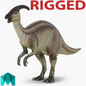 parasaurolophus rigged 3d ma