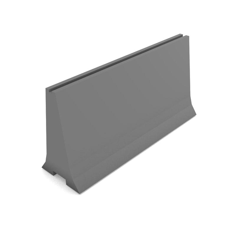 simple road barrier 3d model