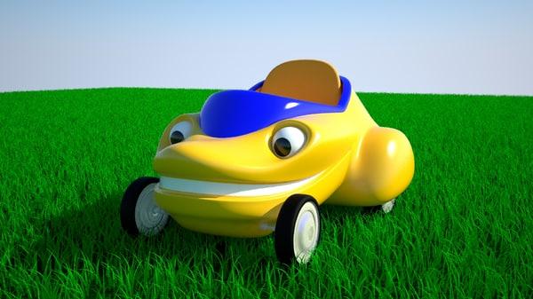 funny cartoon car 3d max