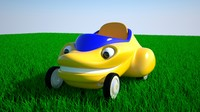 funny cartoon car 3d max