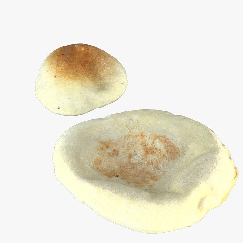 pita bread 3d model