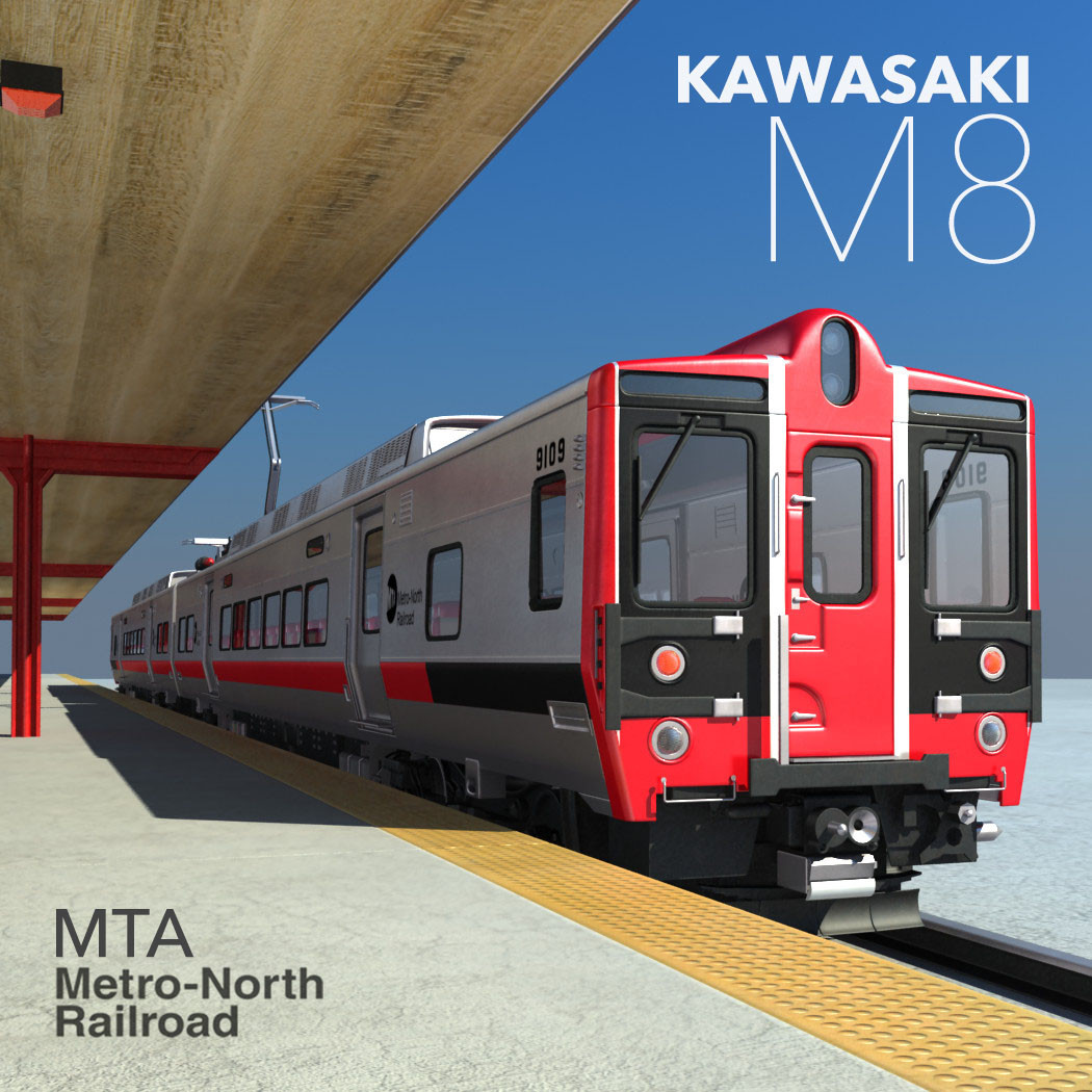 metro north kawasaki m8 3d model