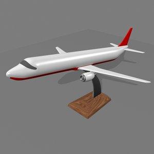 3d decorative airplane