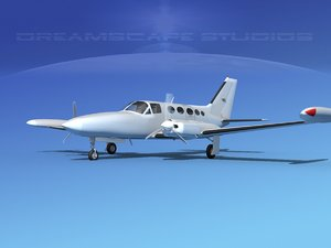 3d model propellers cessna 414 chancellor