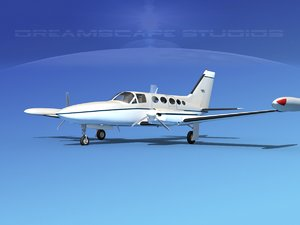 propellers cessna 414 chancellor 3d model