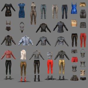 fbx clothing 44 pieces