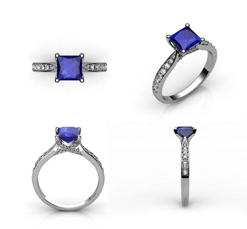engagement rings 3d model