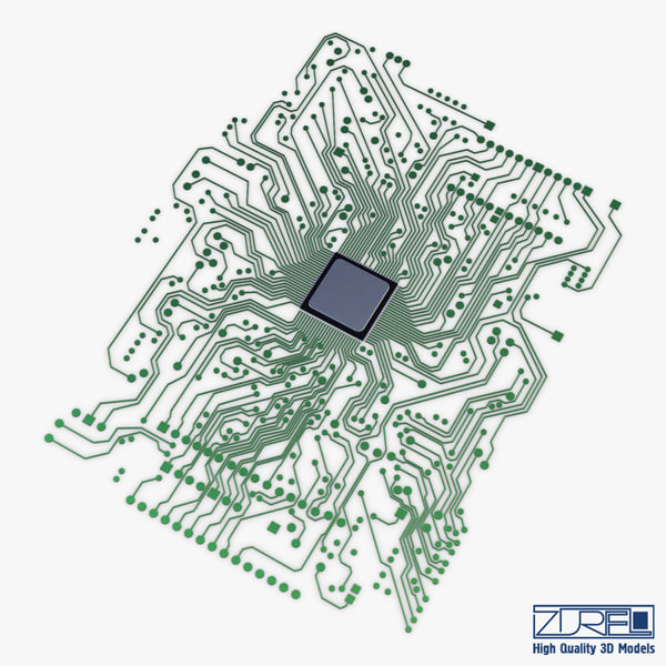 electronic circuit v 1 3d model