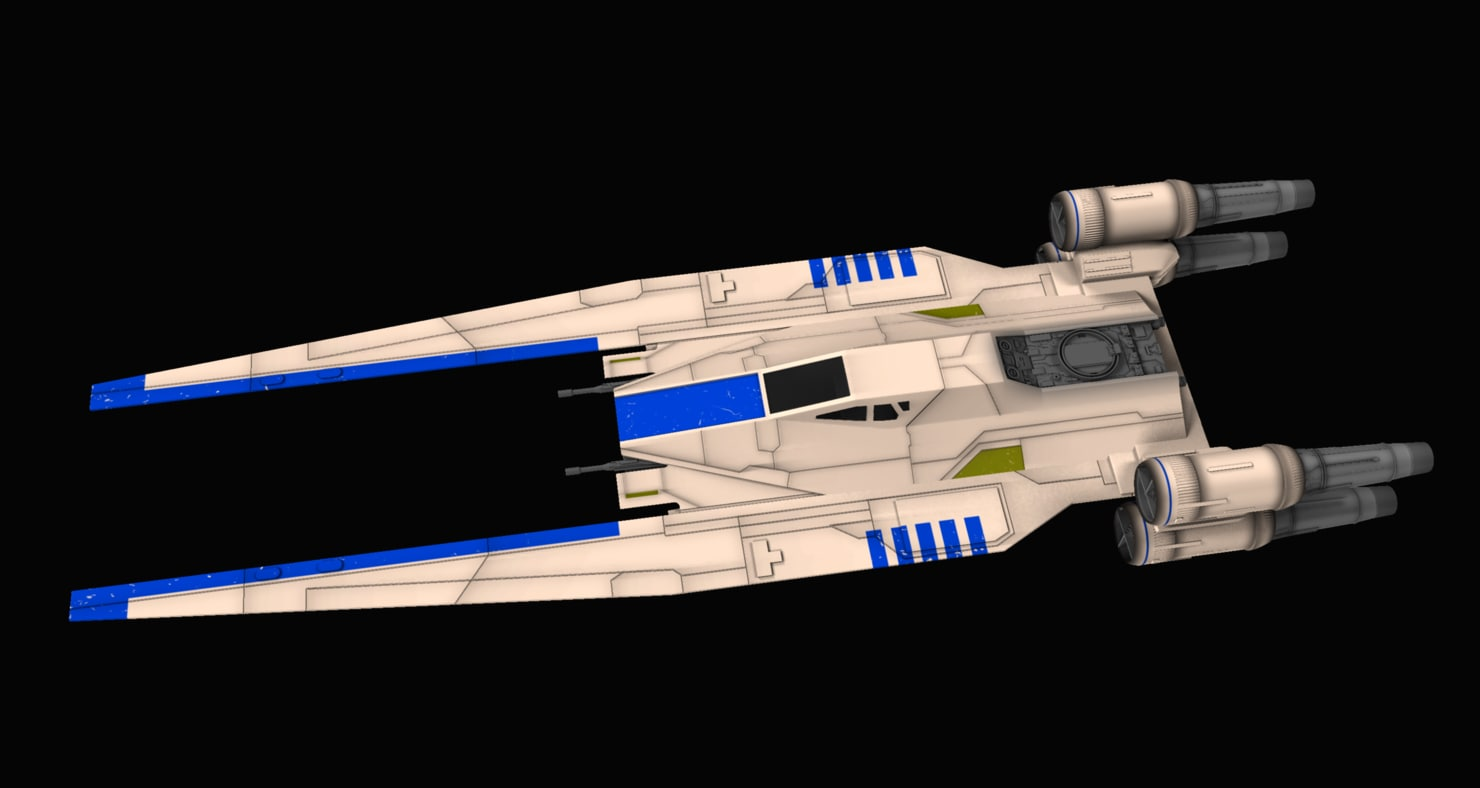 u-wing fighter star wars 3d model