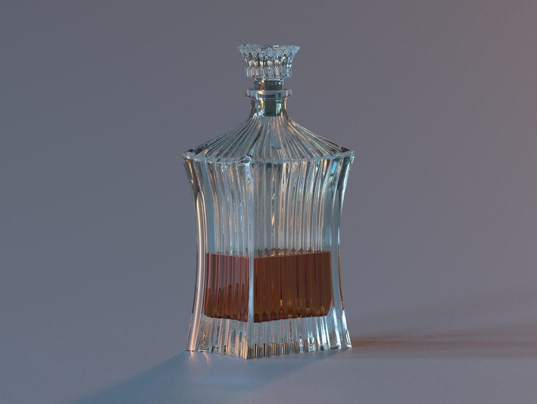 3d decanter liquid model