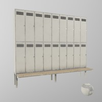 metal locker cabinet 3d model