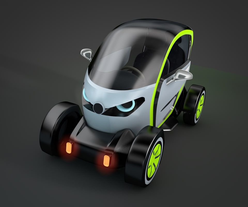 electric car 3d model
