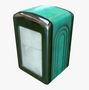 napkin dispenser 3d max