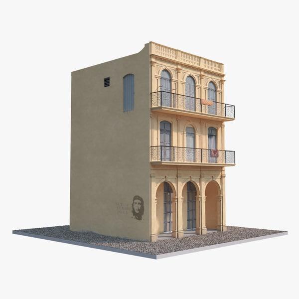 house havana low-poly 3d model