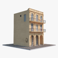 house havana low-poly obj