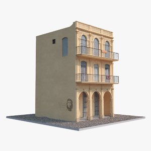 house havana low-poly 3d model