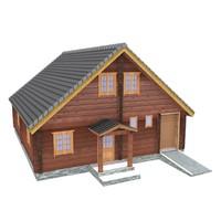 3d 3ds wooden shelter 05