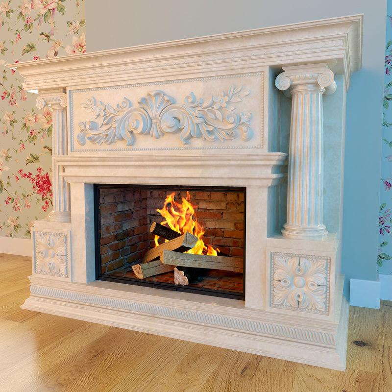 fireplace classic 3d model