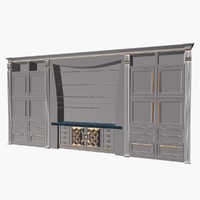 modernariato deco cupboard 3d model