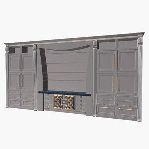 modernariato deco cupboard 3d model