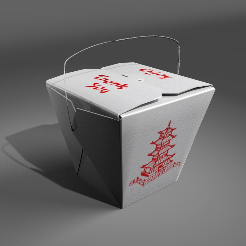 container sauce chopsticks 3d model