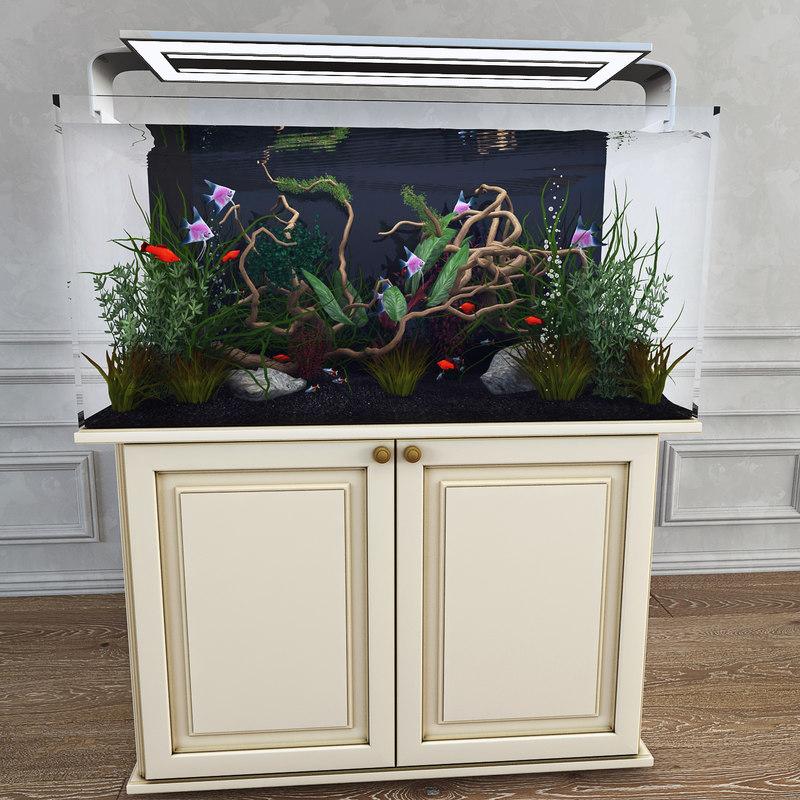 3d model aquarium plants