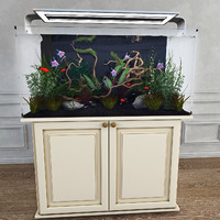 3d model aquarium plants