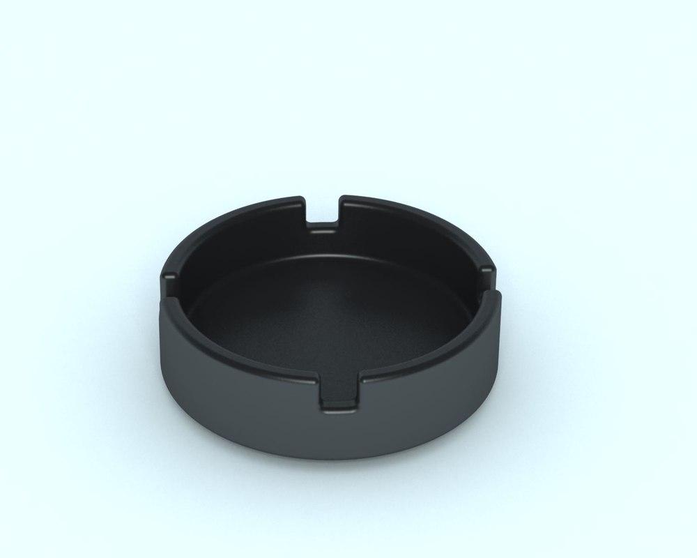 ash tray 3d max