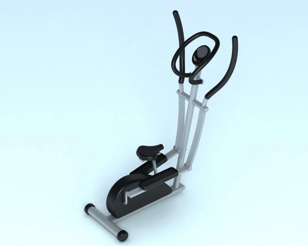3d model fitness bike
