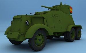 ww2 aac-1937 armored car 3d model