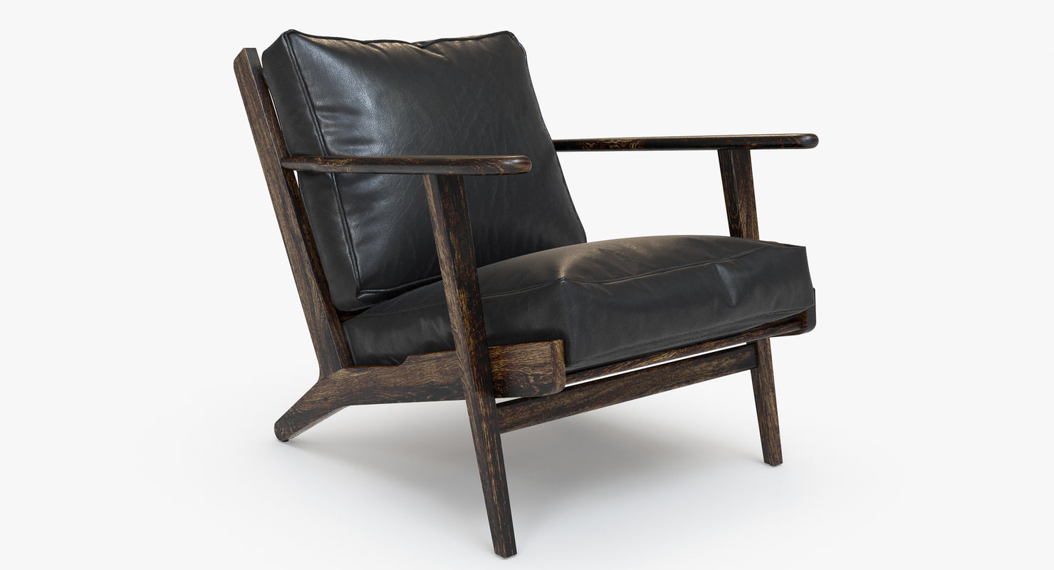 3d Brooks Leather Lounge Chair