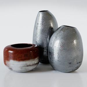3d model stardust vases