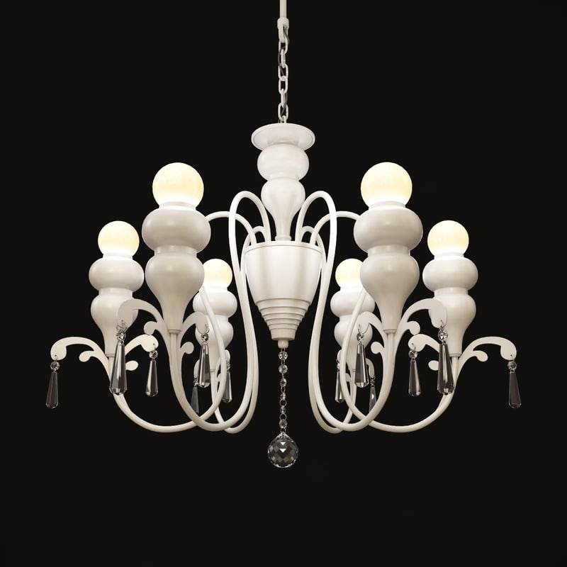 3d model chandelier favourite