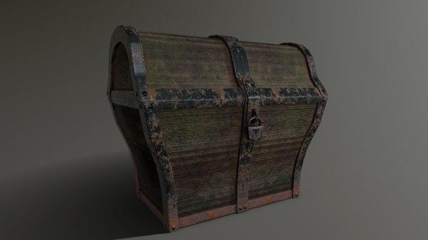 pbr chest 3d model