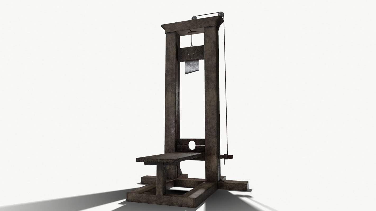 pbr guillotine 3d model. Black Bedroom Furniture Sets. Home Design Ideas