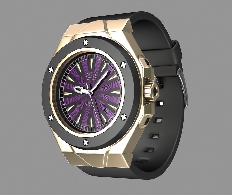 modern wrist watch design 3d max