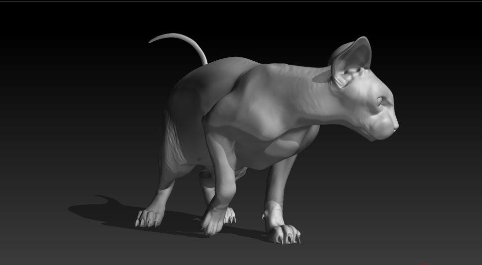 sphinx cat 3d model
