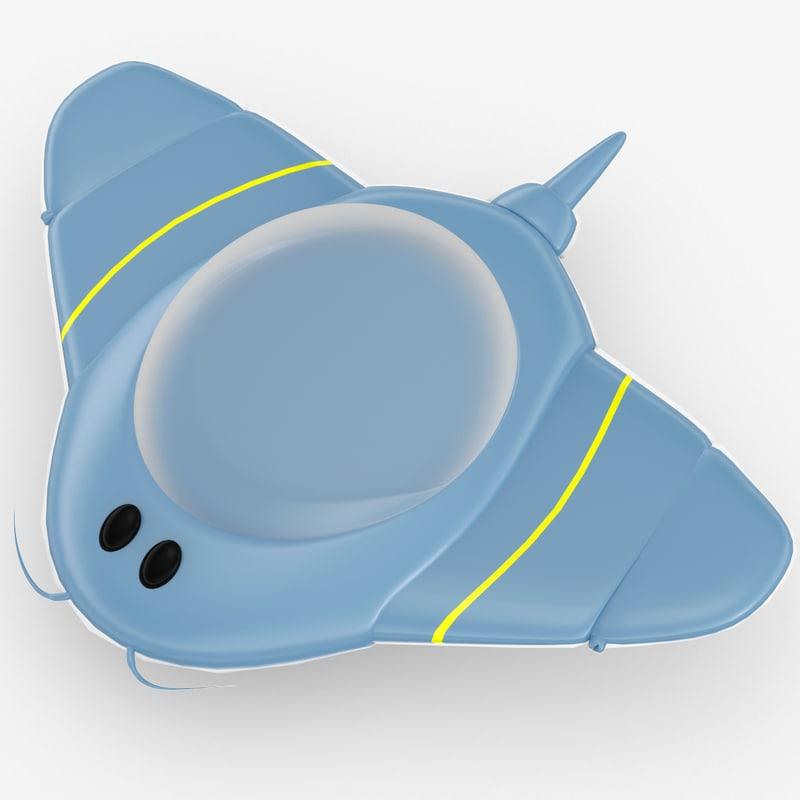 3d tolo toy ufo model