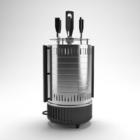 3d model electric barbecue maker