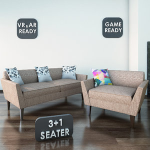 3d 3ds fabric sofa games