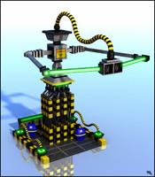 3d sci-fi structure