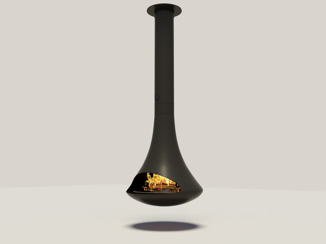 3d hanging fireplace model