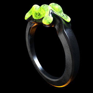 c4d ring glowing stone