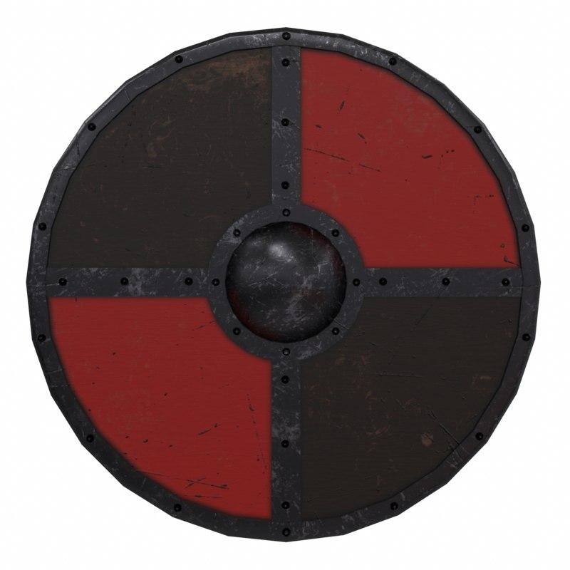 buckler shield 3d max